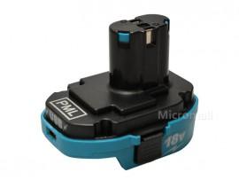 18V USB Adapter Converter for Makita 1830 1815 li-ion to 1834 1835 Nicad NiMh