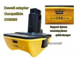 Compatible Dewalt DC1820 USB Adapter 18V-20V Li-ion Battery Convert