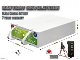 Deep cycle solar storage battery 12V 130Ah Ultra Lead Carbon Battery
