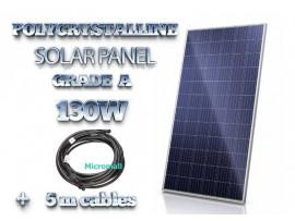 2019 grade A+ 100W 130W 12V/21.8V Polycrystalline Solar Panel charger