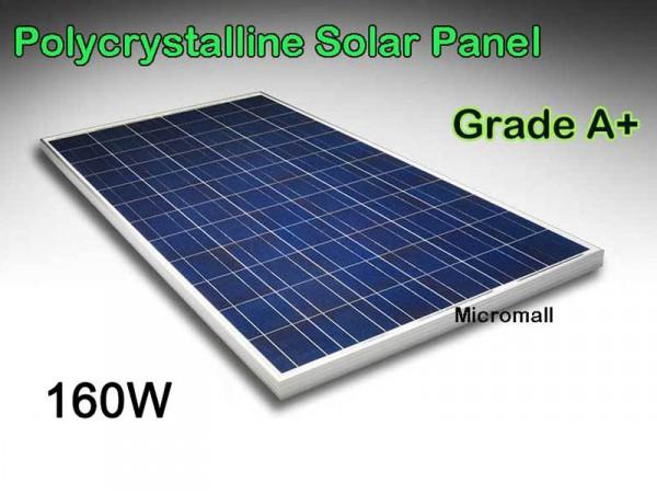 Premium Grade A+ 150W 160W 12V/21.8V Polycrystalline Solar Panel