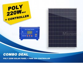 Premium Quality Grade A+ 220W 12V/18V Polycrystalline Solar Panel + Controller