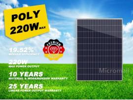 Premium Quality Grade A+ 220W 12V/18V Polycrystalline Solar Panel Poly