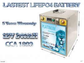 2020 12v 240ah lifepo4 battery deep cycle solar and start battery