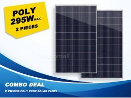 2 Pcs Premium Grade A+ 280W/295W 12V/24V/31.5V Polycrystalline Solar Panel 580W