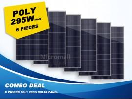 6 Pcs Premium Grade A+ 280W/295W 12V/24V/31.5V Polycrystalline Solar Panel 1740W