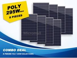 8 Pcs Premium Grade A+ 280W/295W 12V/24V/31.5V Polycrystalline Solar Panel 2320W