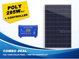 Combo - Premium 280/295W 12v/24v/31.5v Polycrystalline Solar Panel + Controller