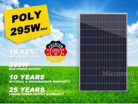 Premium 2020 Polycrystalline Solar Panel Grade A+ 280/295W 12V/24V/31.5V