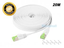 CAT7 Network CAT 7 Flat Ethernet Patch Cable - 20M