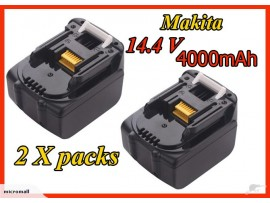 2 x replace makita 14.4v 4.0 Ah li-ion battery