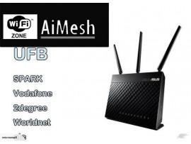 ASUS RT-AC68U AC1900 DualBand WiFi Router UFB Aimesh vpn Spark vodafone  2degree