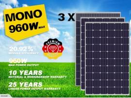 Premium 2020 3pcs mono Solar Panel Grade A+ 310/320W 12V/24V/31.5V