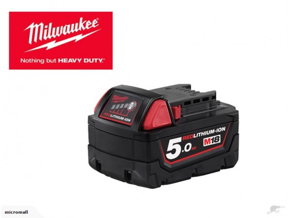 genuine milwaukee M18 5ah red lithium battery