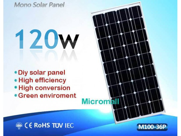 2019 premium grade A+ 100W 120W 12V to 18V Mono crystalline Solar Panel charger