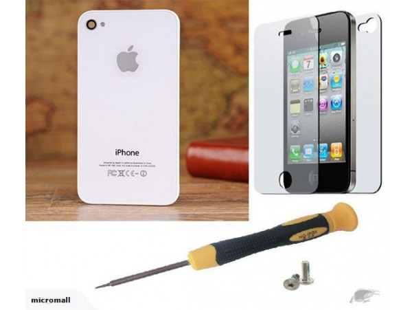 Best white iPhone 4 Back Glass Cover Replacem