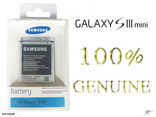 100% Genuine S3 mini Battery Samsung Galaxy 3pins