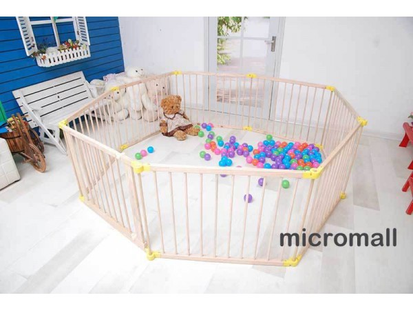 2020 upgrade Baby Toddler Deluxe Wooden Large 8 Panel Playpen