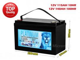 2019 Solar Battery 115Ah 140Ah 100hr 12V AGM GEL 2.0 Deep Cycle Solar Battery