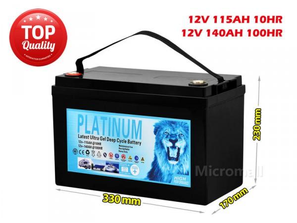 2020 Solar Battery 115Ah 140Ah 100hr 12V AGM GEL 2.0 Deep Cycle Solar Battery