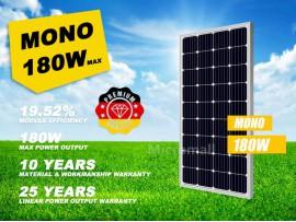 2020 premium grade A+ 180W 12V to 18V Mono crystalline Solar Panel charger