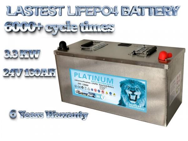 2020 24v 130ah lifepo4 battery deep cycle solar and start battery