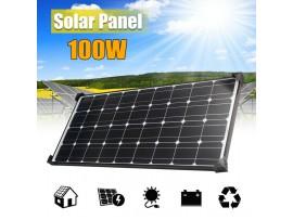 2020 premium grade A+ 100W 12V to 18V Mono crystalline Solar Panel charger