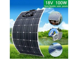 12v/18V 100W flexible Monocrystalline Outdoor Solar Panel 12v battery