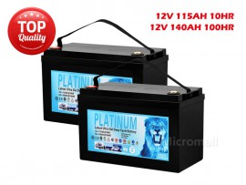 2X Deep Cycle Solar Battery 140Ah 100hr 12V AGM GEL 2.0 - Sep 2019