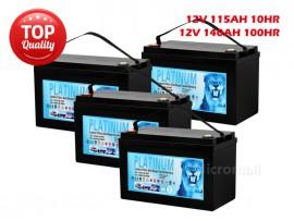 4X Deep Cycle Solar Battery 140Ah 100hr 12V AGM GEL 2.0 - Sep 2019