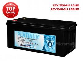 2019 Solar Battery 260Ah 100hr 12V AGM GEL 2.0 Deep Cycle Solar Battery
