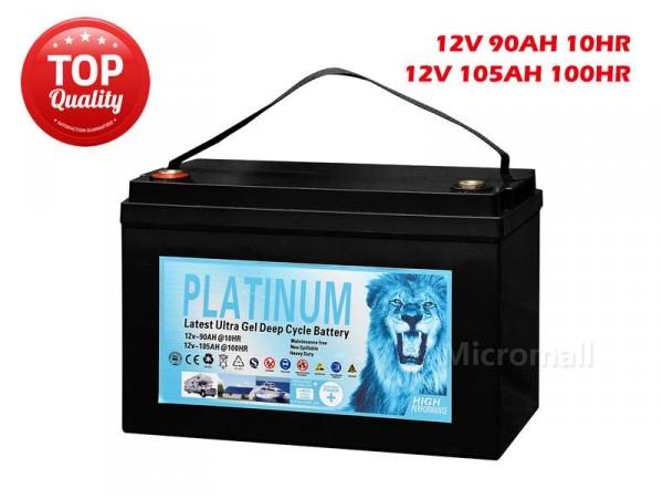 2019 Solar Battery 90Ah 105Ah 100hr 12V AGM GEL 2.0 Deep Cycle Solar Battery