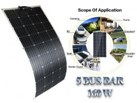 2020 12v/18V 160W flexible Monocrystalline Outdoor Solar Panel 12v battery